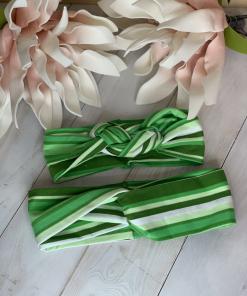 Stirnband grün weis