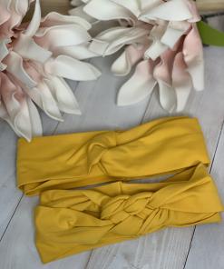 Stirnband Senf gelb