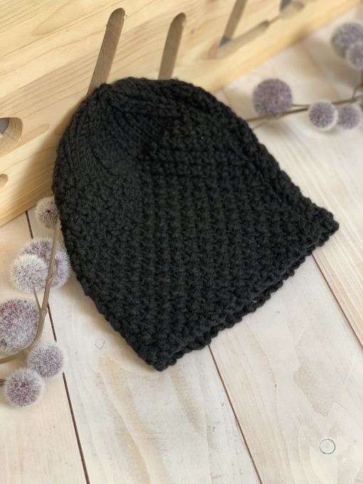 Strick Mütze schwarz